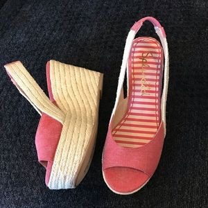 Splendid Pink Wedge Sandals